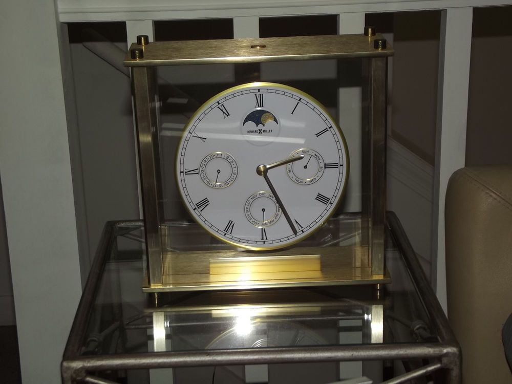 howard miller mantle desk clock model moon phase - Howard Miller Mantel Clock