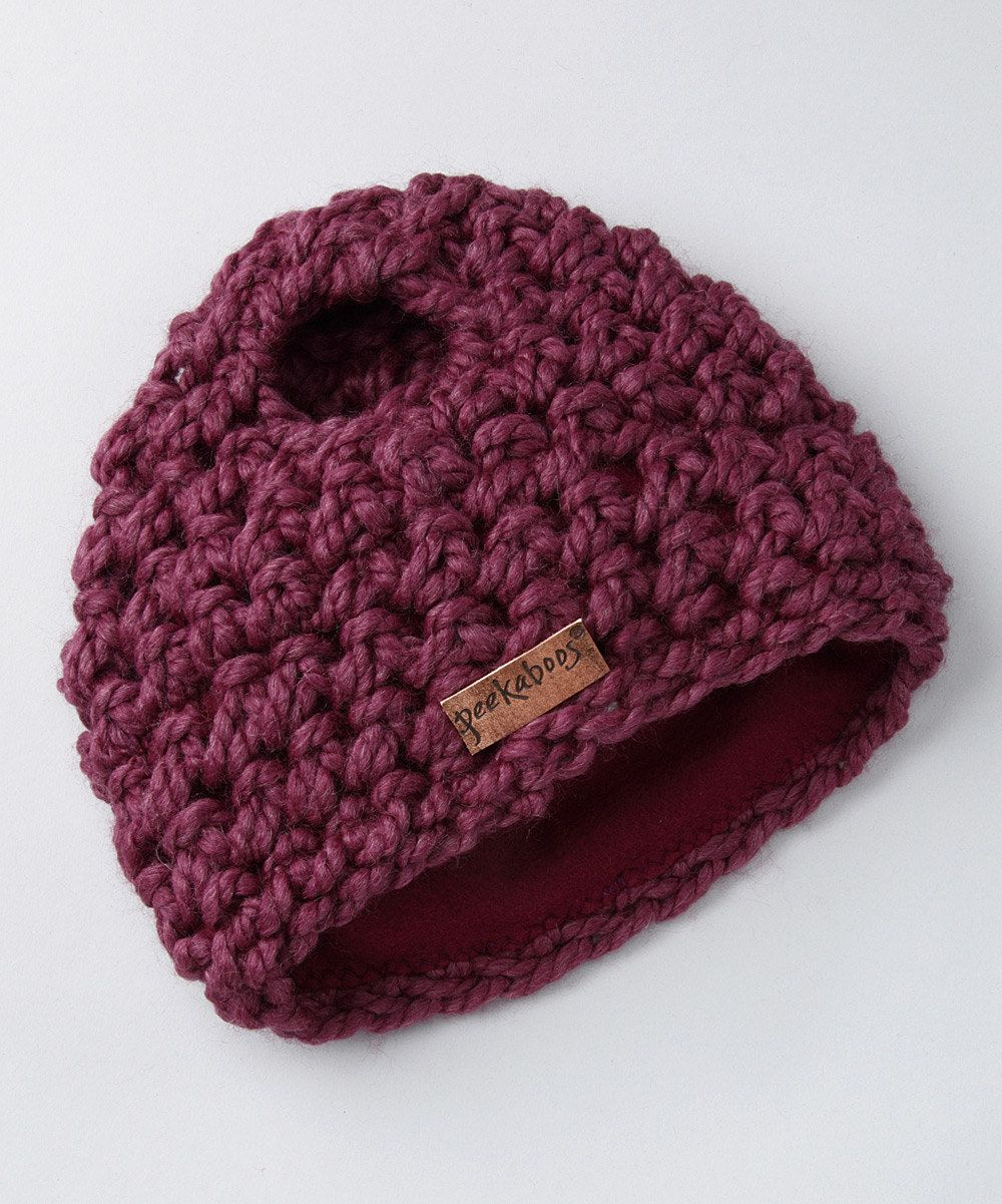 Today on Zulily  Ponytail Hat  This generously sized ponytail beanie is the  new chilly weather staple that covers ears and heightens a sense of style. c88a1e97470