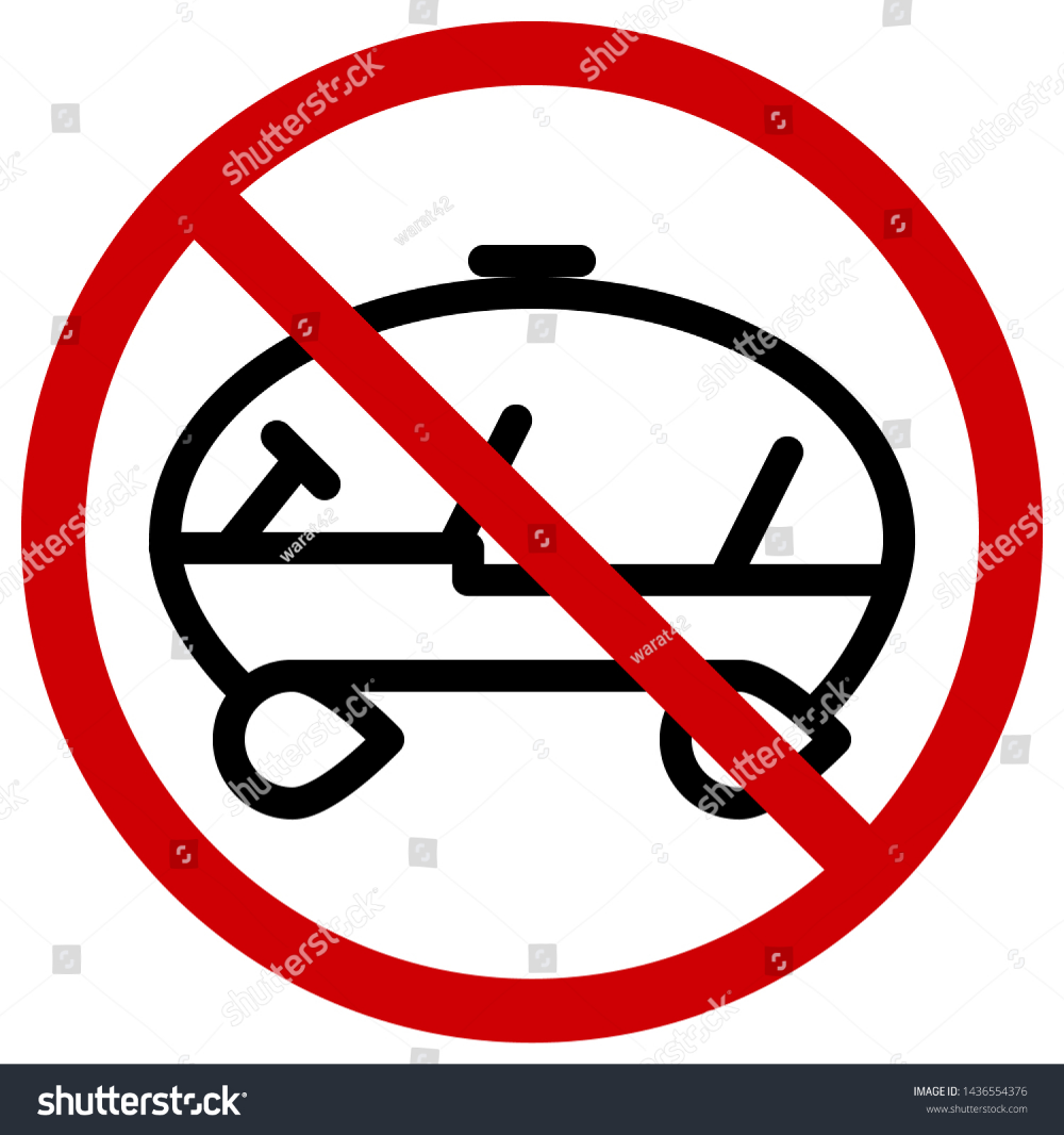 Red Circle Prohibition Signs For No Parking Icons Car Of The Future Or Cartoon Editable Stroke Vector Illustration Vector Circle Vector Images