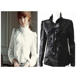 Lullaby S,M,L,Xl,Xxl Worldwide Free Shipping Gorgeous Gothic Satin Blouse