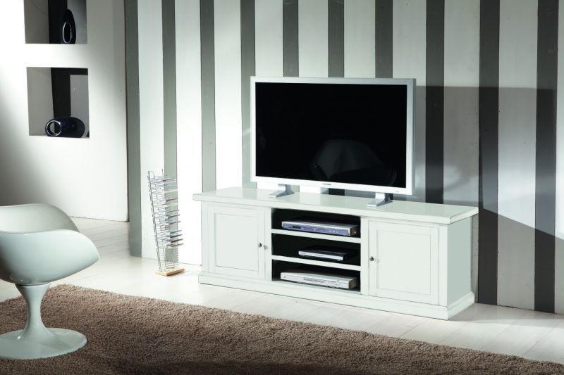 Mobili castagnetti ~ Mobile porta tv in legno shabby chic bianco art 1544 f mobili