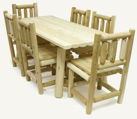 Log Kitchen Tables Log kitchen table custom made with white cedar wood logs log kitchen table custom made with white cedar wood logs workwithnaturefo
