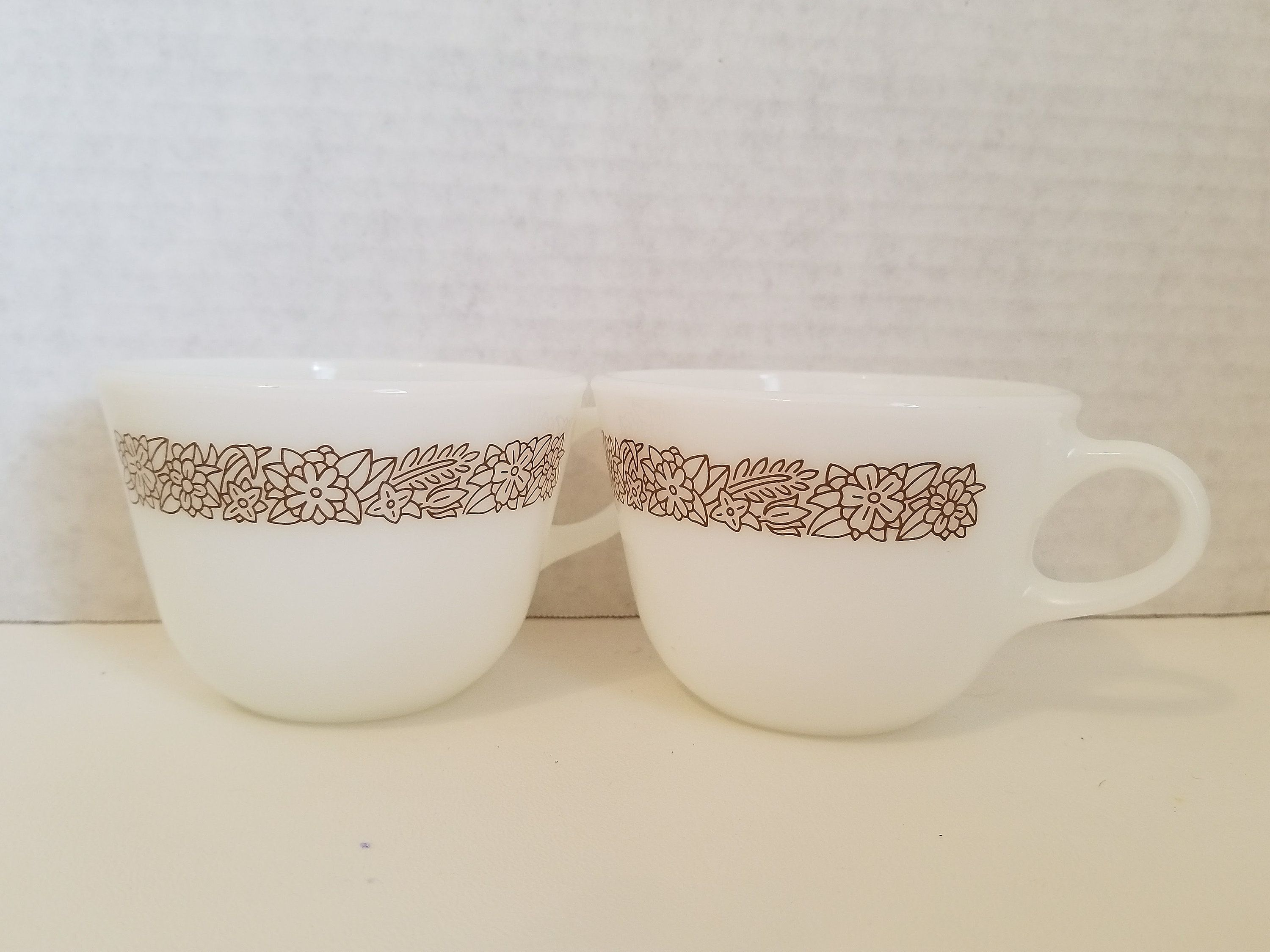 Noble Pyrex Coffee Cups By Corningware Brown Flower Coffee Very Hard To Good A Family Pyrex Coffee Cups By Corningware Brown Flower Microwave Safe Coffee Mugs Online India Dishwasher Safe Coffee Mugs