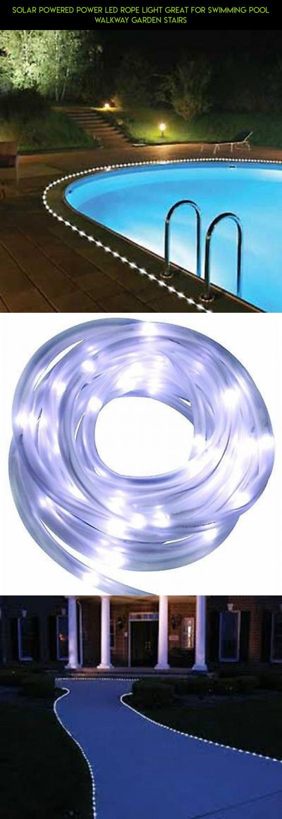 Solar powered power led rope light great for swimming pool walkway solar powered power led rope light great for swimming pool walkway garden stairs products aloadofball Images