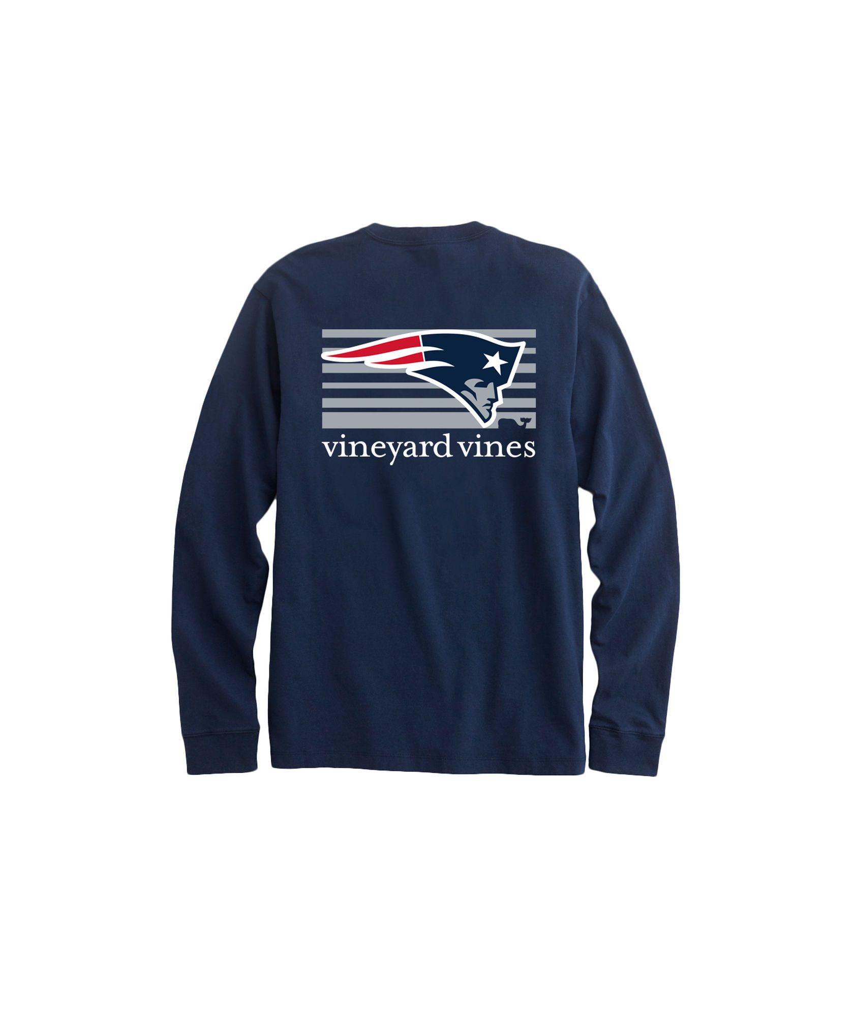76d0e9e346d Vineyard Vines Adult Long-Sleeve New England Patriots Long-Sleeve ...