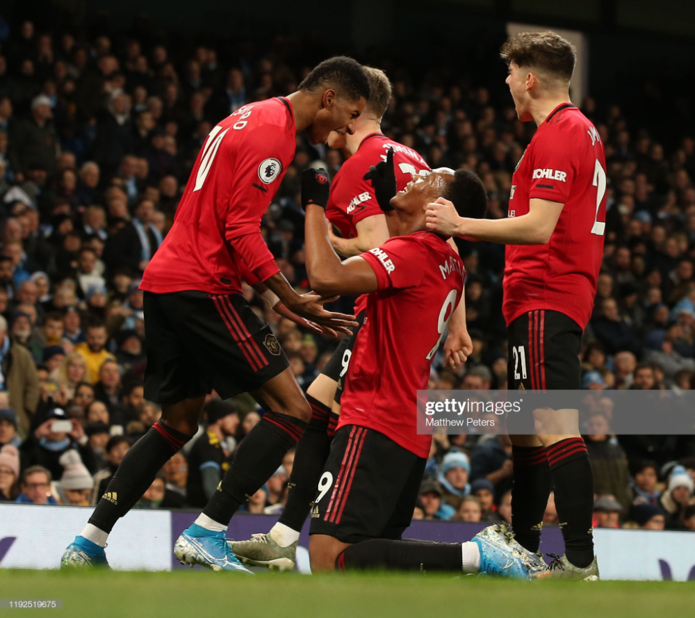 Anthony Martial Of Manchester United Celebrates Scoring