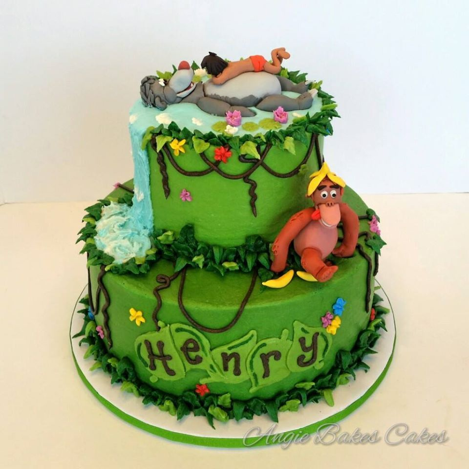 Jungle Book themed cake First Birthday Cakes and Smash Cakes