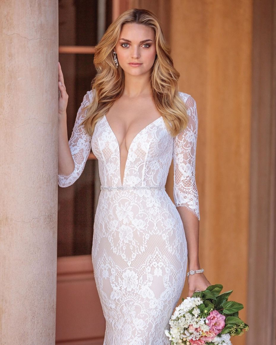 3/4 length lace wedding dress  The Third Annual National Bridal Sale Event Is Almost Here