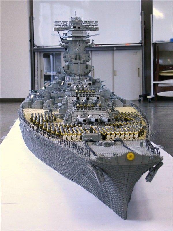 Lego Battleship Yamato Is Biggest Lego Ship Ever Lego Pinterest