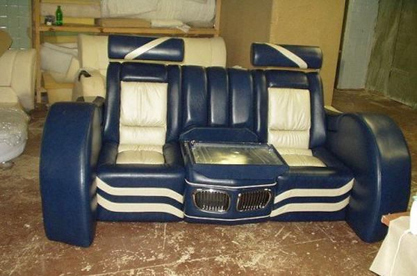 Unique Leather Sofas unique furniture design to recycle car junk yards parts | unique