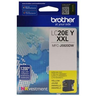 Super High Yield Yellow Ink - Brother International - LC20EY