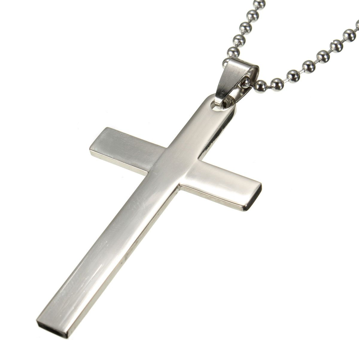 Sale 29 165 cross pendant chain stainless steel silver unisex sale 29 165 cross pendant chain stainless steel silver unisex necklace aloadofball Gallery
