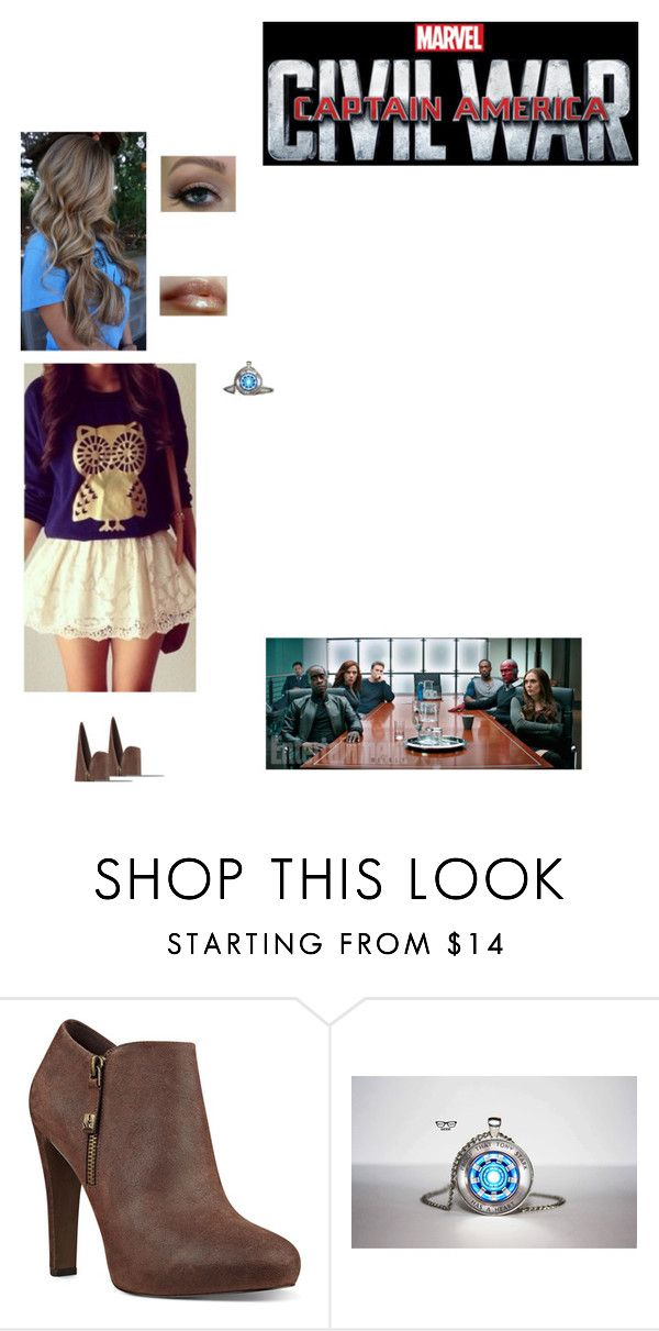 """""""Kelsey Stark: Sokovia Accords Meeting"""" by nerdbucket ❤ liked on Polyvore featuring Nine West, Reactor and Ultimate"""