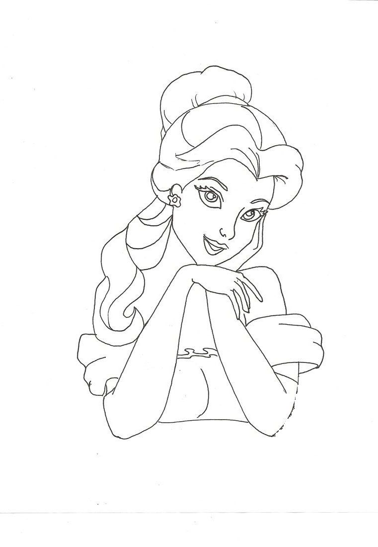 Disney Princess Belle Is Dreamy Coloring Page | Disney Coloring ...