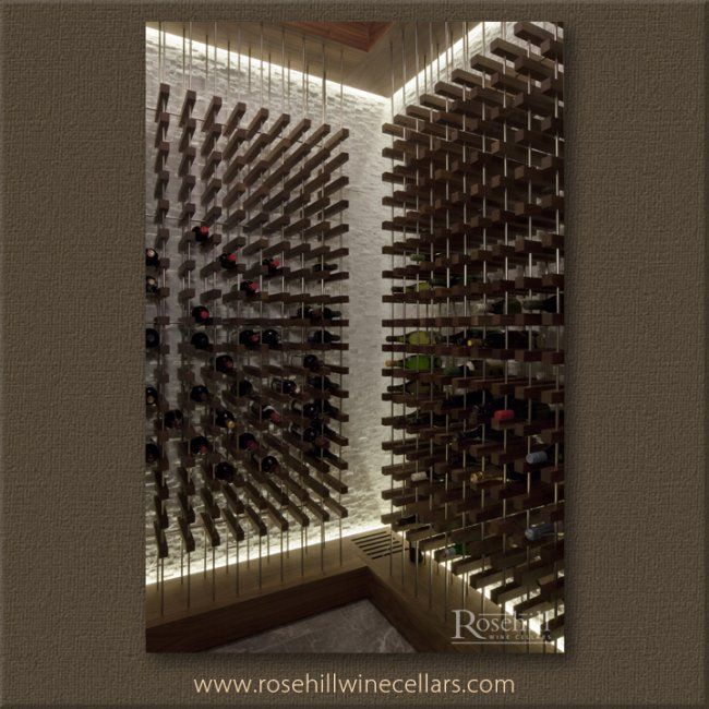 Unique Contemporary Rosehill Wine Cellar Wine Racking System With