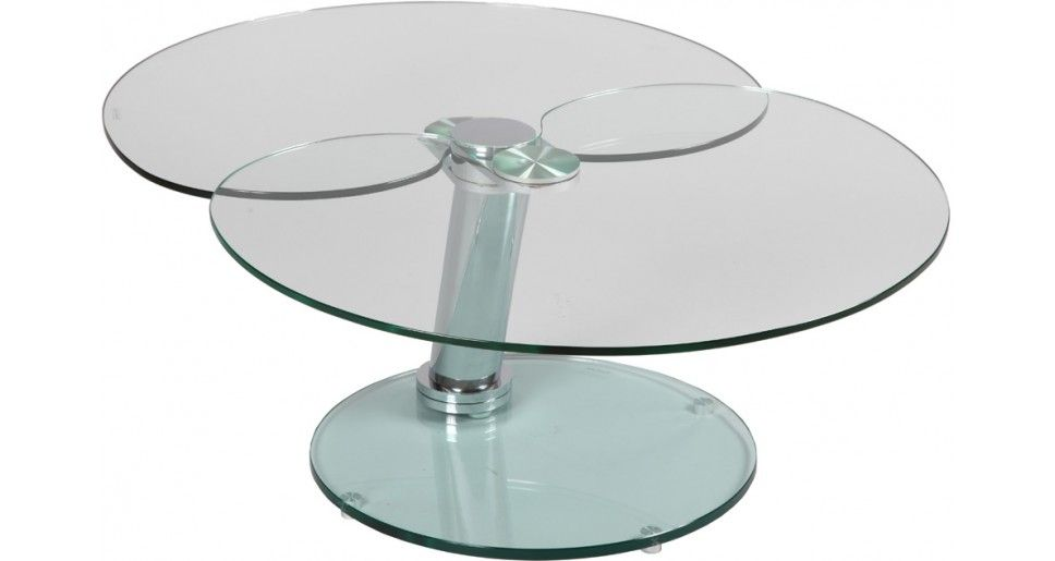 Table Basse Verre Et Acier Plateau Pivotant Table De Salon Salon Table Basse Verre Table Basse Ovale En Verre Table De Salon