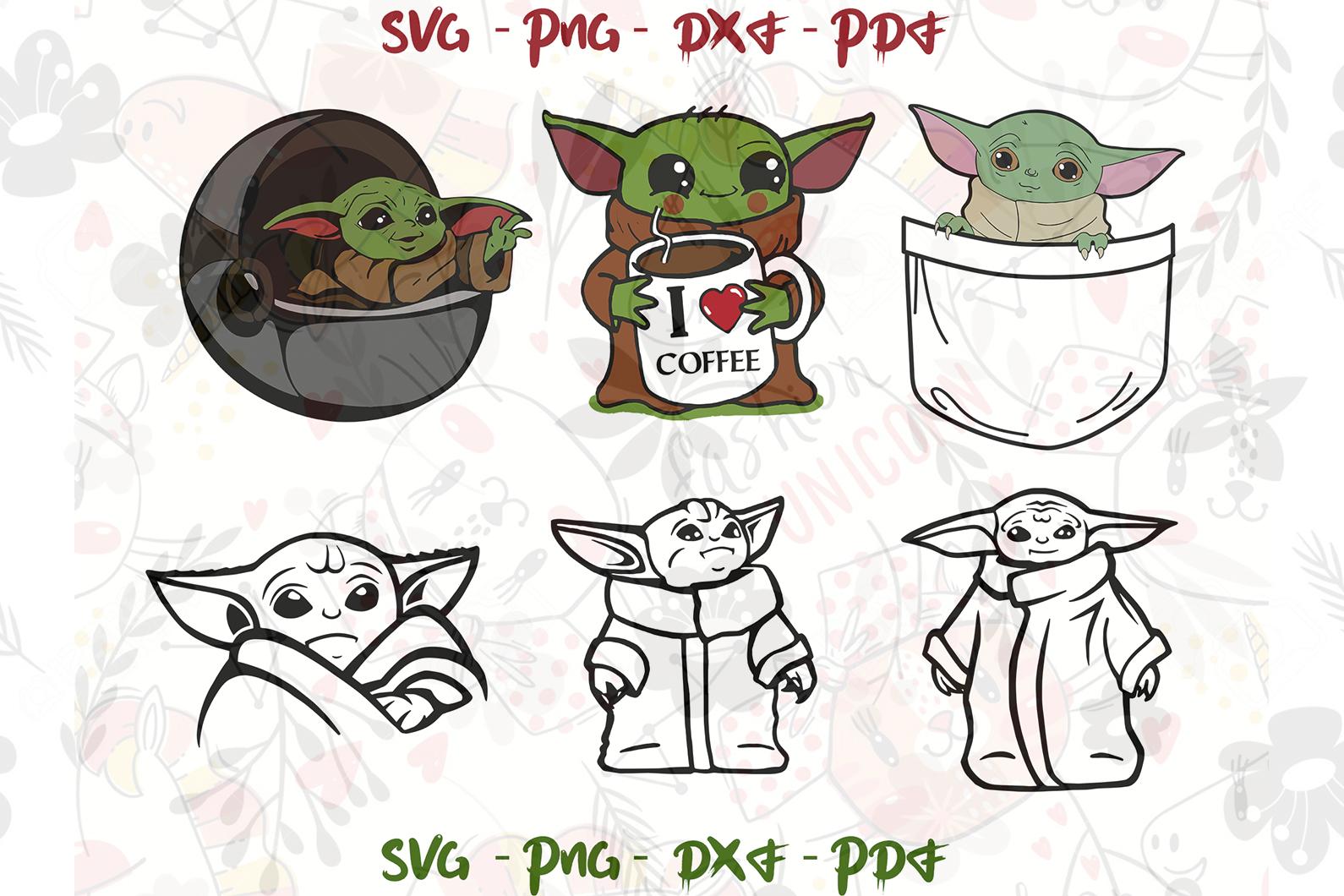 Baby Yoda Santa SVG Christmas Yoda svg Etsy Create