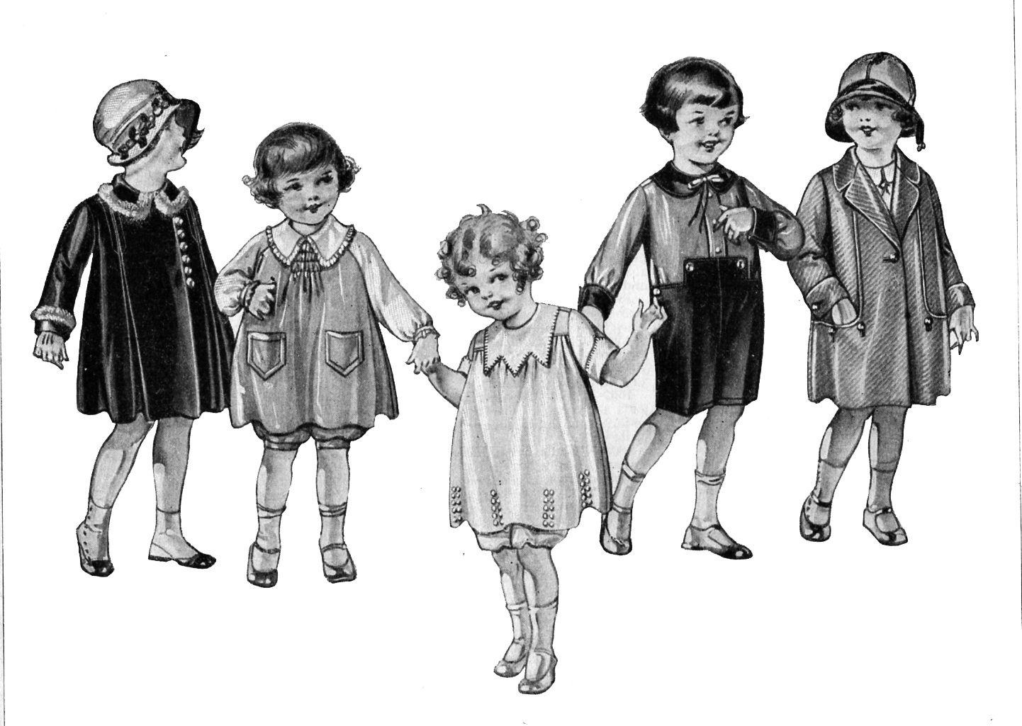 vintage illustrations of children