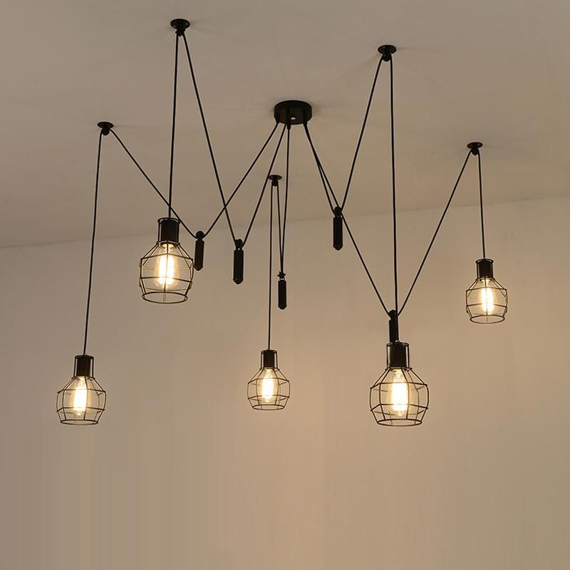 modern hanging lighting. Spider Pendant Lights Led Light Modern Lamp Single Pulley Ceiling Hanging Contemporary Lighting A
