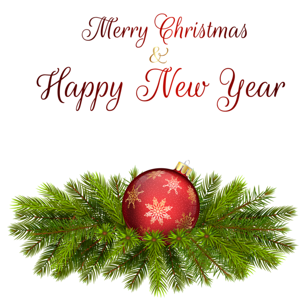 Merry Christmas Happy New Year Clipart