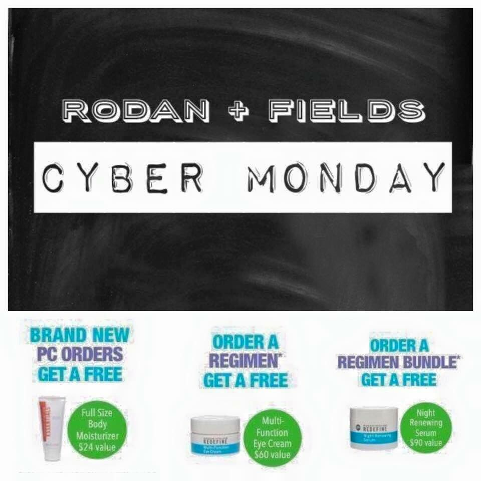 41a90317e44 CYBER MONDAY SALE!! FRee gift with purchase on Rodan and Fields! Message me  to find out more!