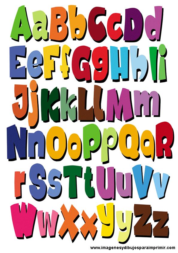 Abecedario con mayusculas y minusculas para imprimir - Fuente letra infantil ...