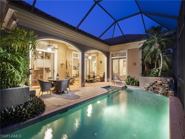Private Screened Pool And Patio At This Beach Villa Villa