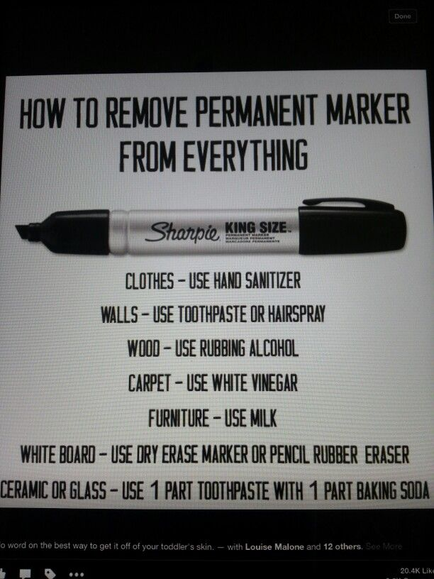 How To Remove Permanent Marker Household Hints Remove
