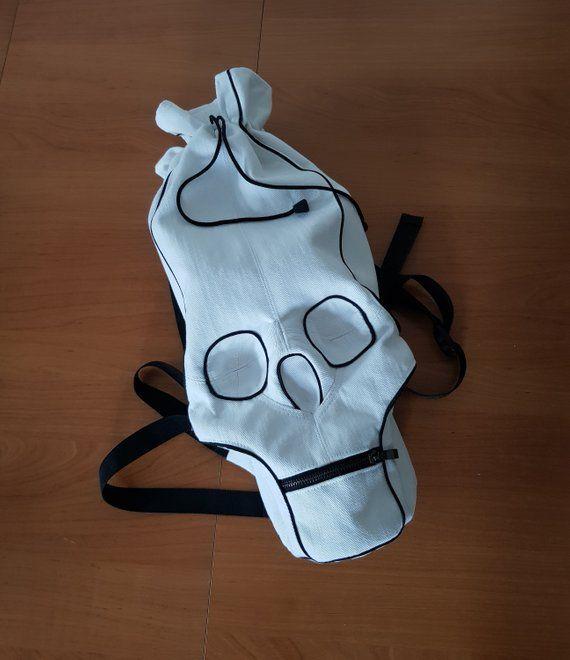 White Skull Backpack Skull Rucksack Skull Bag