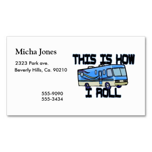 This is how i roll rv business card business pinterest this is how i roll rv business card template colourmoves