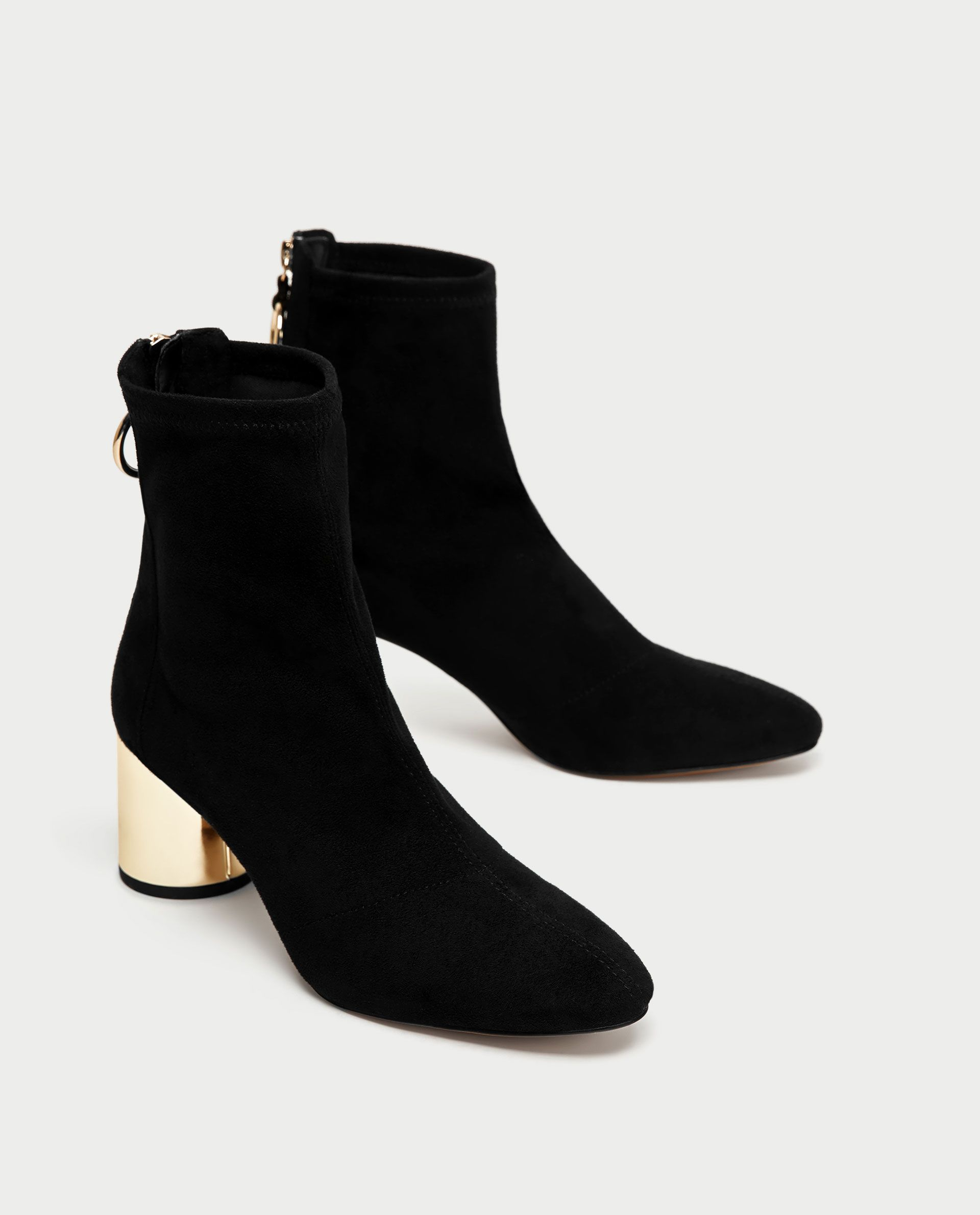 59e7ad61d68a ZARA - WOMAN - ANKLE BOOTS WITH METALLIC HEELS