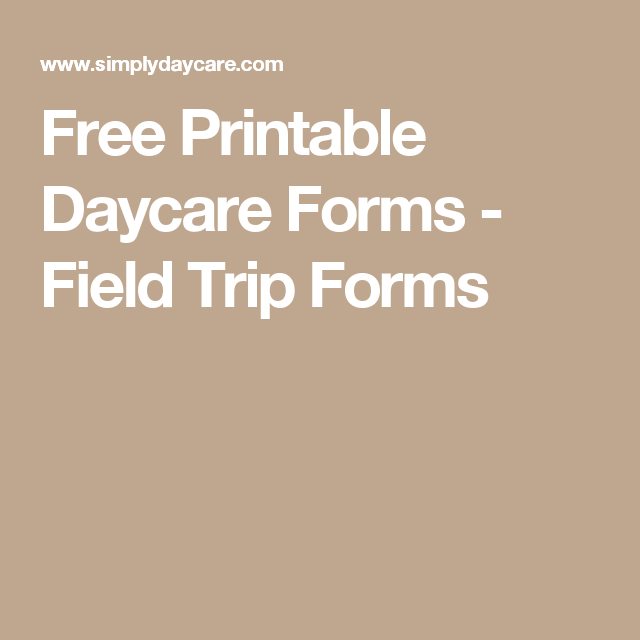graphic regarding Free Printable Daycare Forms referred to as No cost Printable Daycare Kinds - Industry Holiday vacation Kinds Daycare
