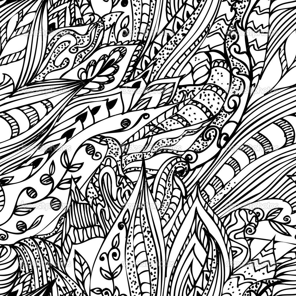 abstract doodle art coloring pages gomitolo di lana da colorare