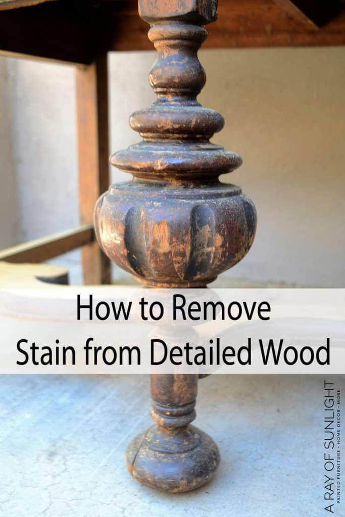 Photo of How to Remove Old Stain from Detailed Wood