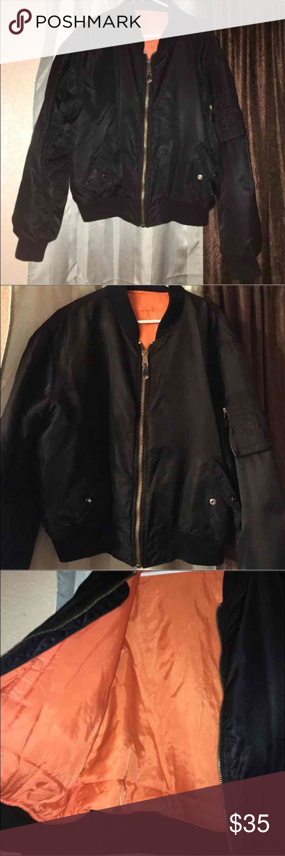 Bomber jacket men Great condition oversizede,fast shipping Jackets & Coats Bomber & Varsity