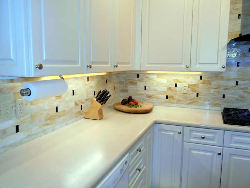 Stained Gl Tile Backsplash