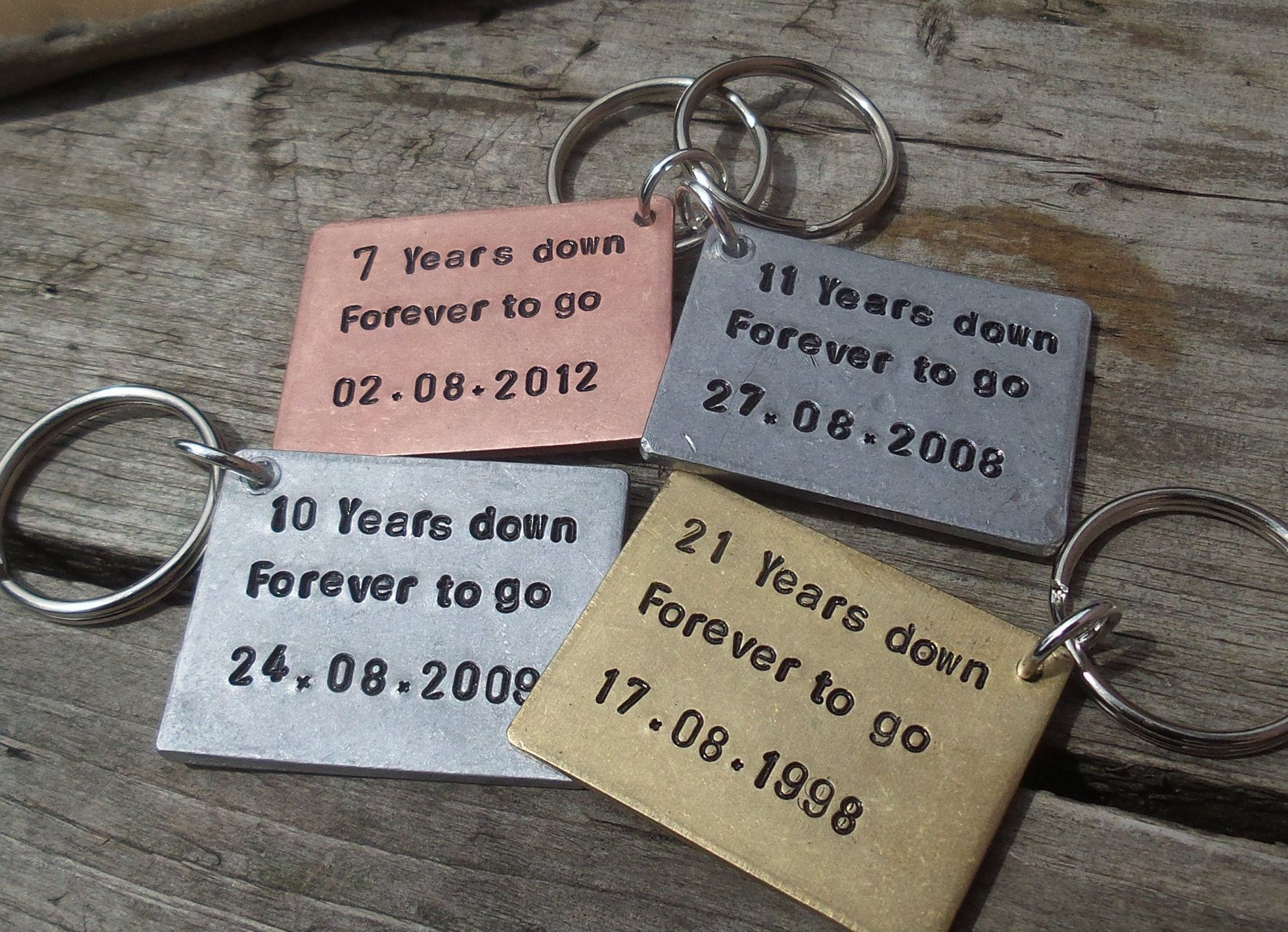7 years down forever to go solid copper 7th wedding etsy