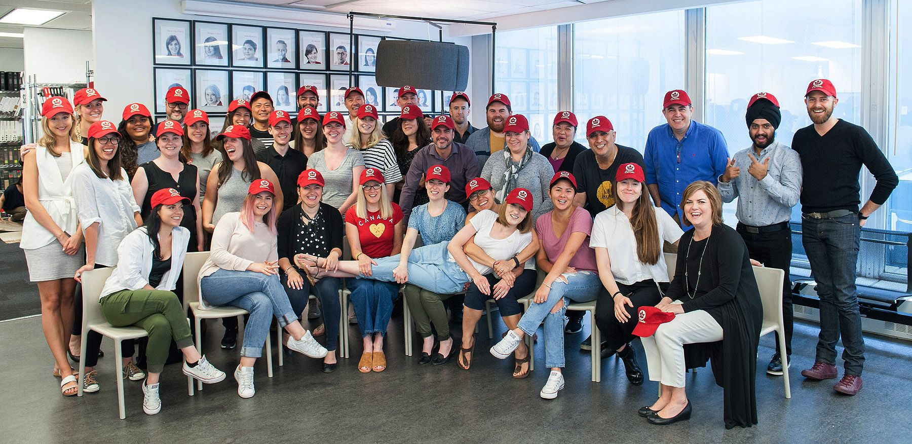 The Gang At Figure3 Interior Design With Their Vifloor Canada 150 Hats