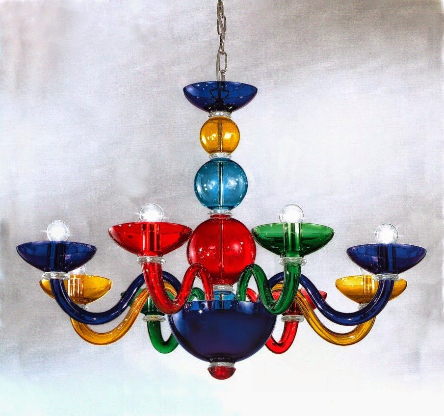Spare parts for Murano modern chandeliers colorful