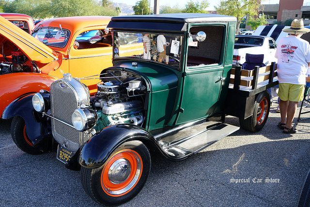 Ford Model A At Palm Springs Cruisin Association Car Show - Palm springs classic car show