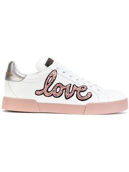 7888ef3da2 Tênis 'London' de couro | Sapatos - Calçados em 2019 | Dolce gabbana ...