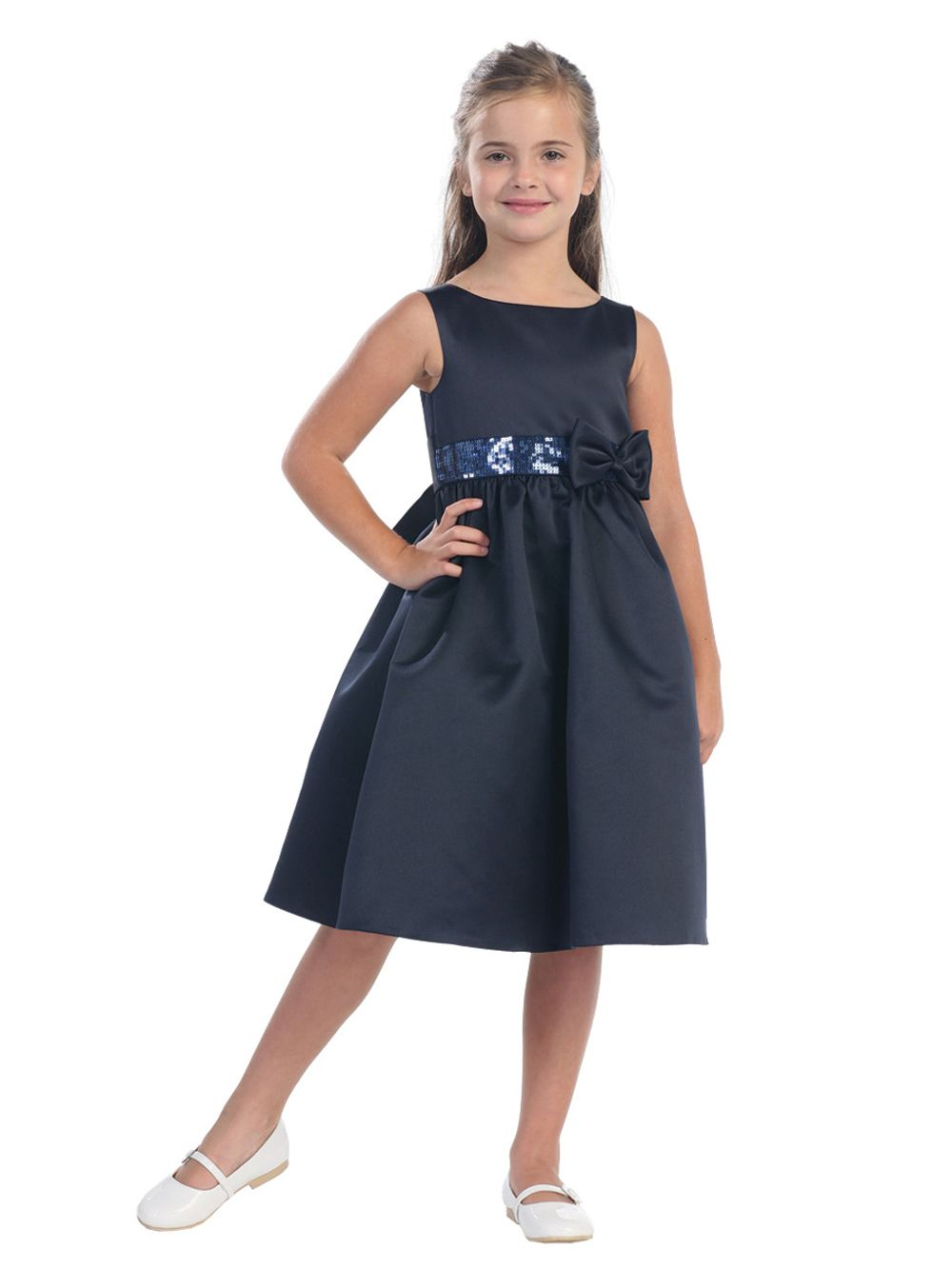 Navy blue childrens bridesmaid dresses gallery braidsmaid dress junior bridesmaid dresses chiffon junior bridesmaid dresses navy beautiful sequins waist satin flower girl dress sizes ombrellifo Image collections