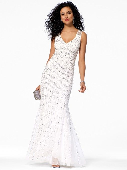 1000  images about Holiday Gowns on Pinterest  Rose gold Beaded ...