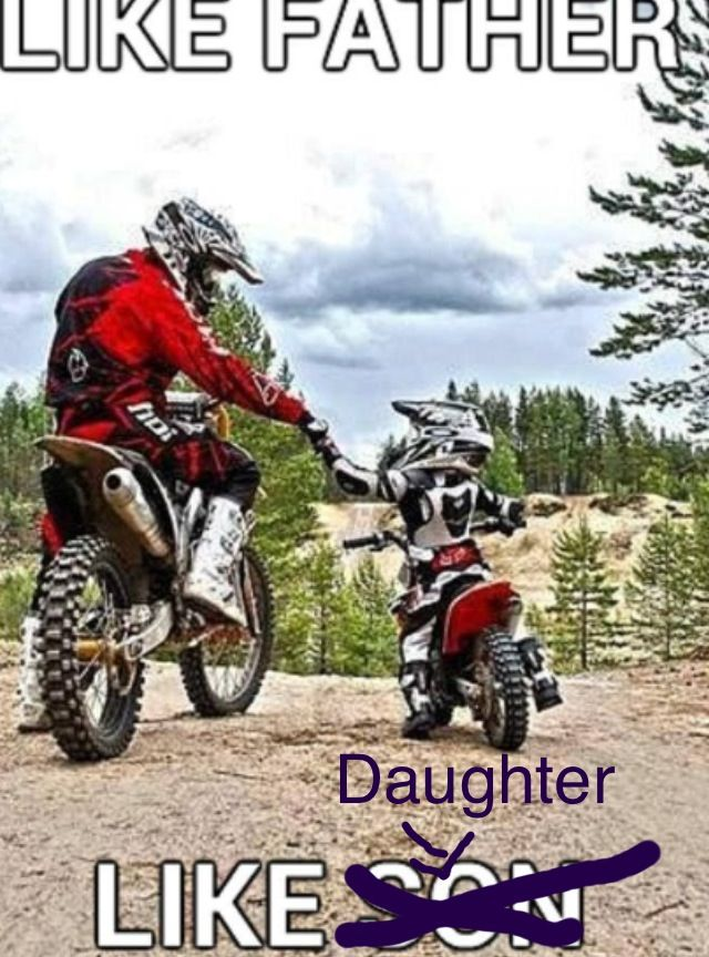 75a235012 Like father like daughter | Dirtbike!!!! | Motocross helmets, Dirt ...