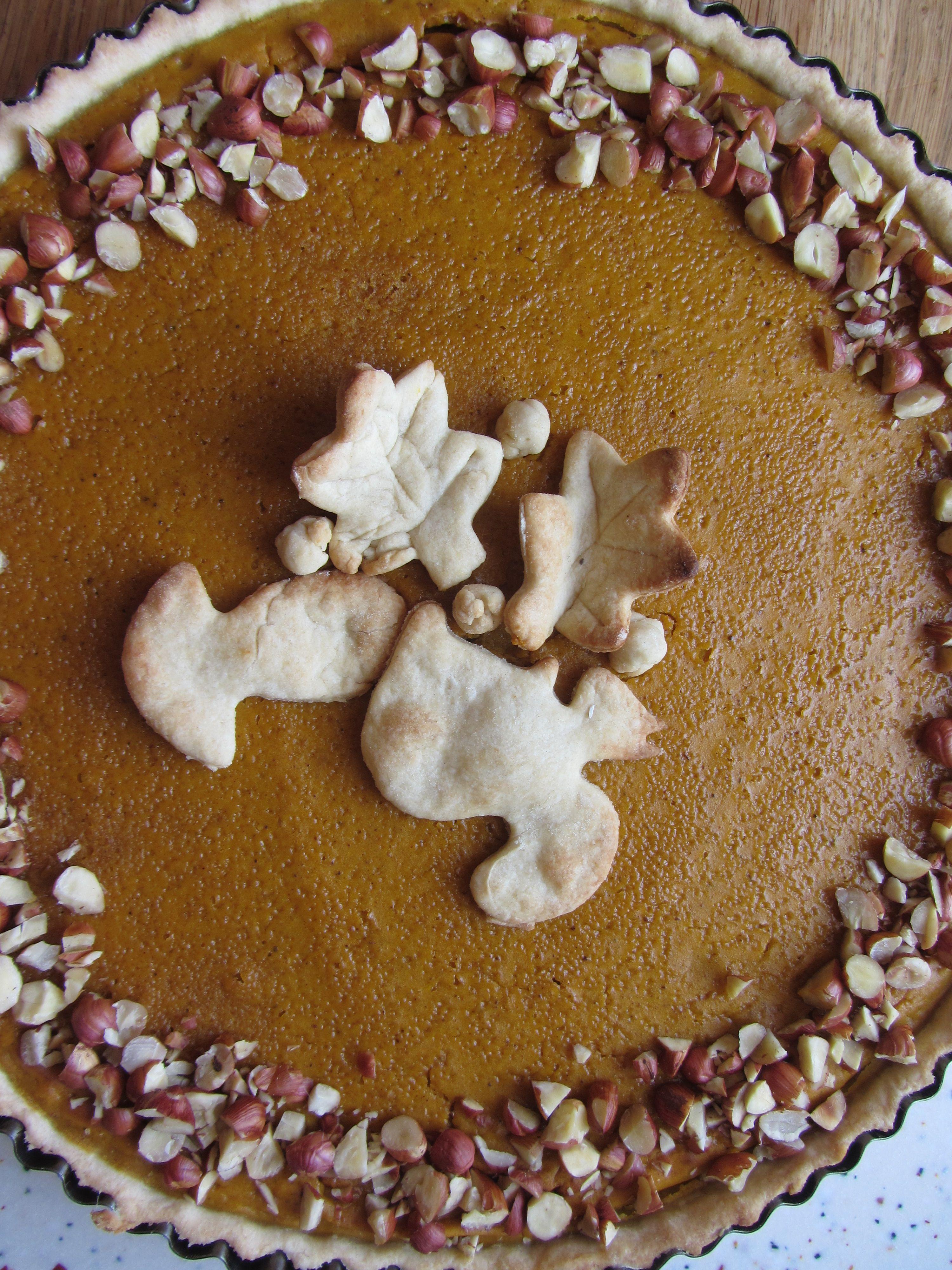 Tarte au potimarron, épices et noisettes - Pumpkin pie