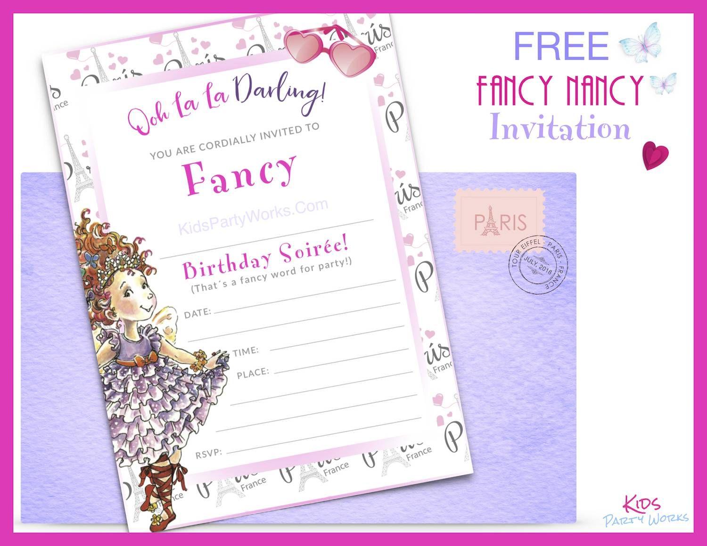 Fancy Nancy Party Fancy nancy party Birthday party