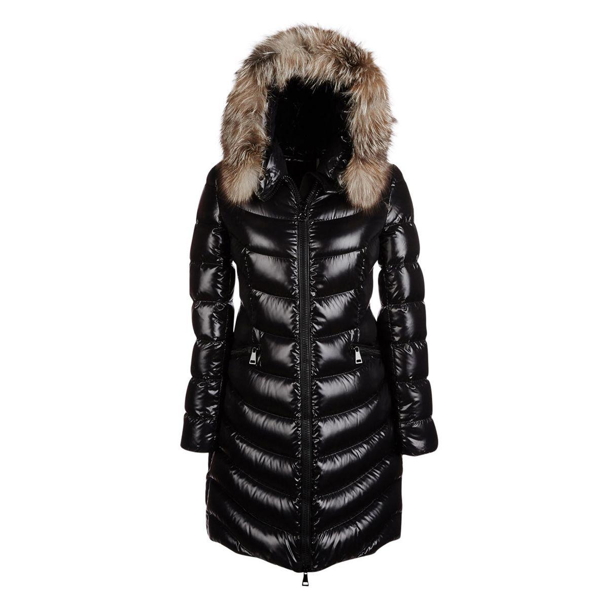 Doudoune semi-longue Aphia à capuchon bordé de fourrure - 2 375    MONCLER  Aphia fur-trimmed puffer coat de31290d0cd