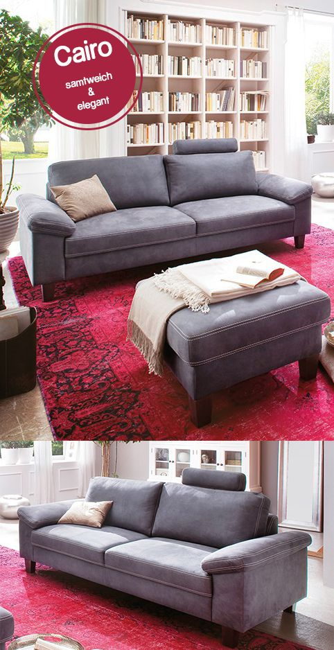 Gemütliches Sofa Wohnzimmer coast polstergarnitur steel