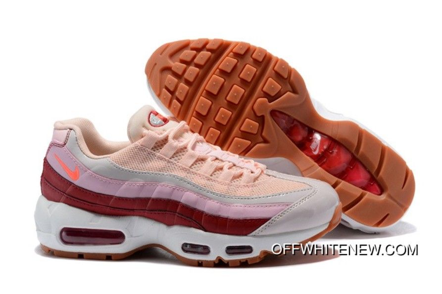 buy popular 50d83 62ce7 Wmns Nike Air Max 95 Barely Rose Hot Punch-Vintage Wine-White Best