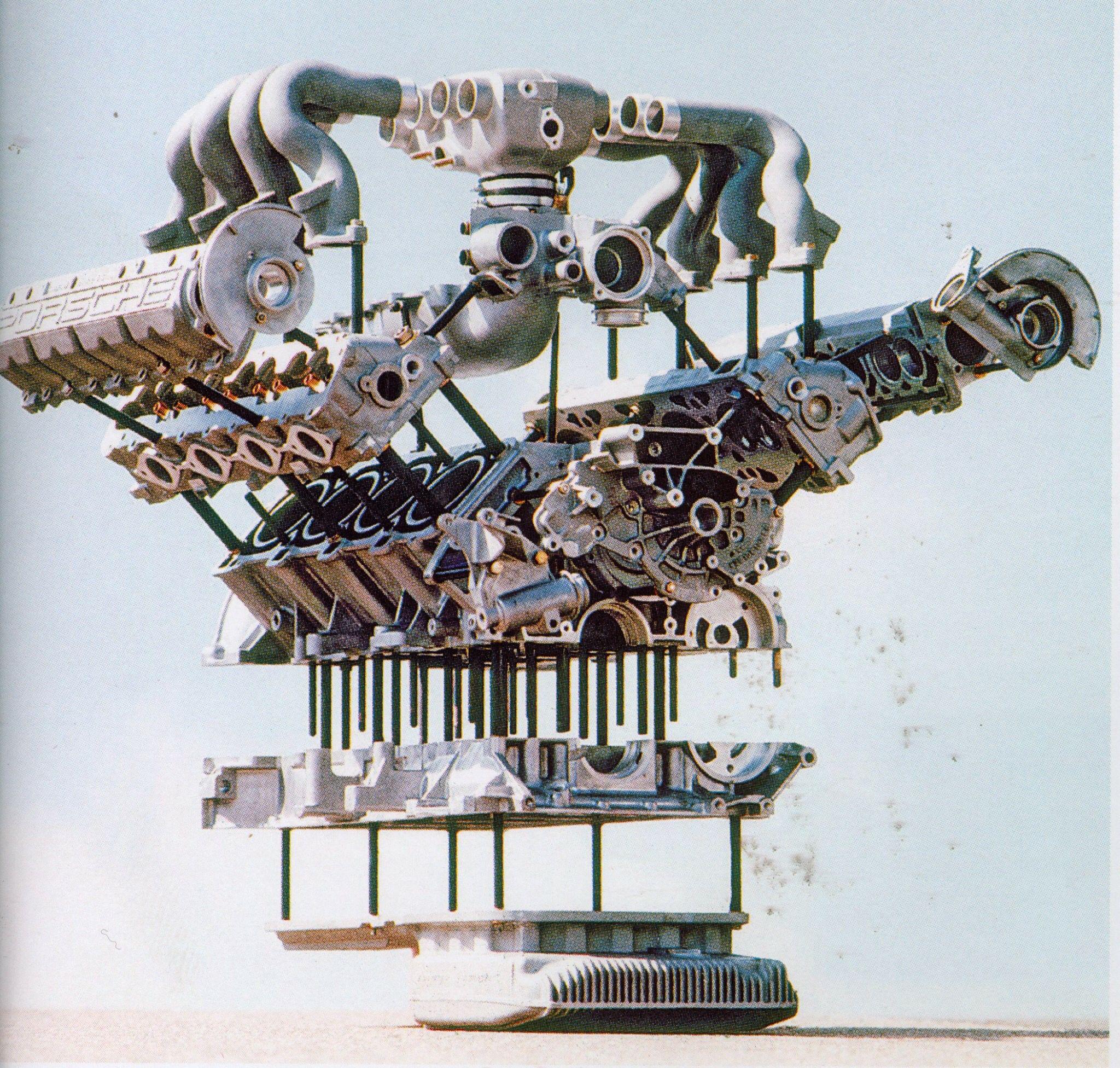 porsche 928 engine exploded view [ 2048 x 1952 Pixel ]